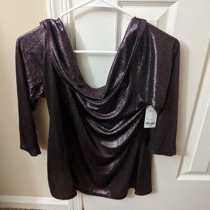 Metallic Mid sleeve shirt